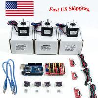Arduino CNC Kit w/ UNO + Shield+ Stepper motors DRV8825 Endstop A4988 GRBL US VP