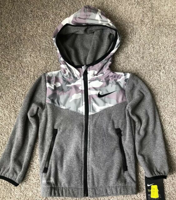 Toughskins Boys Fleece Jacket//Zip Up Hoodie Sizes S M L Green or Gray Camo NWT
