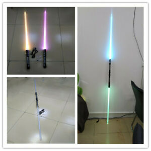 2PC-2-in-1-Star-Wars-Sword-Lightsaber-Dueling-Force-16-Colors-With-Connector-DHL