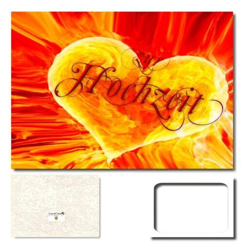 PanoramaUmschlag #125 DigitalOase Hochzeitskarten Grußkarte XXL  zur Hochzeit