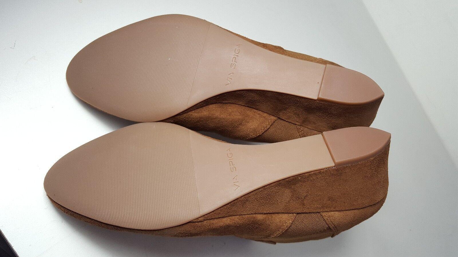 250 Größe Größe Größe 7 Via Spiga Harlie braun Suede Wedge Ankle Stiefelie damen schuhe NEW 4bbe1b