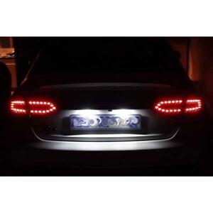 Audi-A4-A5-A6-LED-Xenon-HID-White-Number-Plate-Light-Bulbs-Globe-Coupe-Sedan