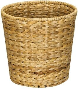 Details About Wicker Waste Bin Trash Can Garbage Basket Small Bedroom Bathroom Office Dorm New