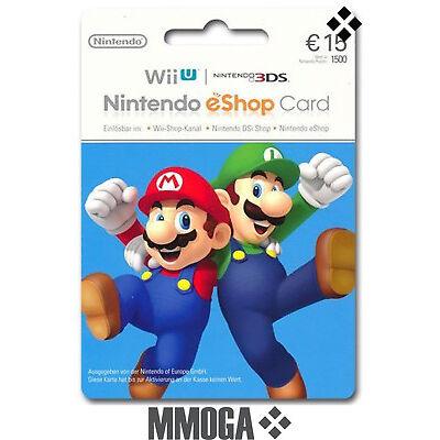 15? Nintendo eShop Tarjeta Prepago - 15 Euro 3DS Wii U Switch Código - ES