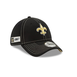 Details About New Era 39thirty Nfl New Orleans Saints On Field Sideline Stretch Baseball Cap
