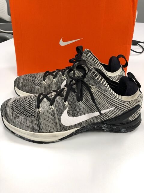 8038f9cf5d09d2 Nike Metcon DSX Flyknit 2 Crossfit Training Shoes White Black Men s Sz 10