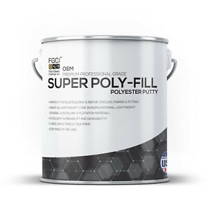 Orderly Oem Super Polyester Putty Filler Gallon Liquid Glues & Cements Glues, Epoxies & Cements Diy Gelcoat Repair Fixer & Restoration Finely Processed