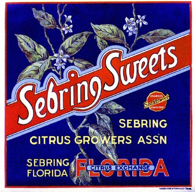 Vero Beach Florida Oslo Orange Citrus Fruit Crate Label Art Print