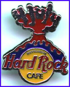 Hard-Rock-Cafe-REYKJAVIK-1995-July-4th-PIN-VOLCANO-HRC-Catalog-7843