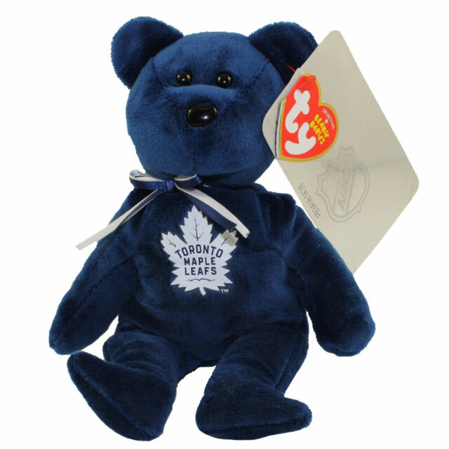 TY Beanie Baby - NHL Hockey Bear - TORONTO MAPLE LEAFS (8 inch) - MWMTs