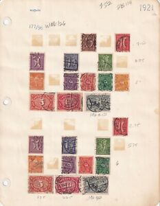GERMANY 2 ALBUM PAGES 1921 $114 SCV WMK 126 SPECIALIST COLLECTION LOT