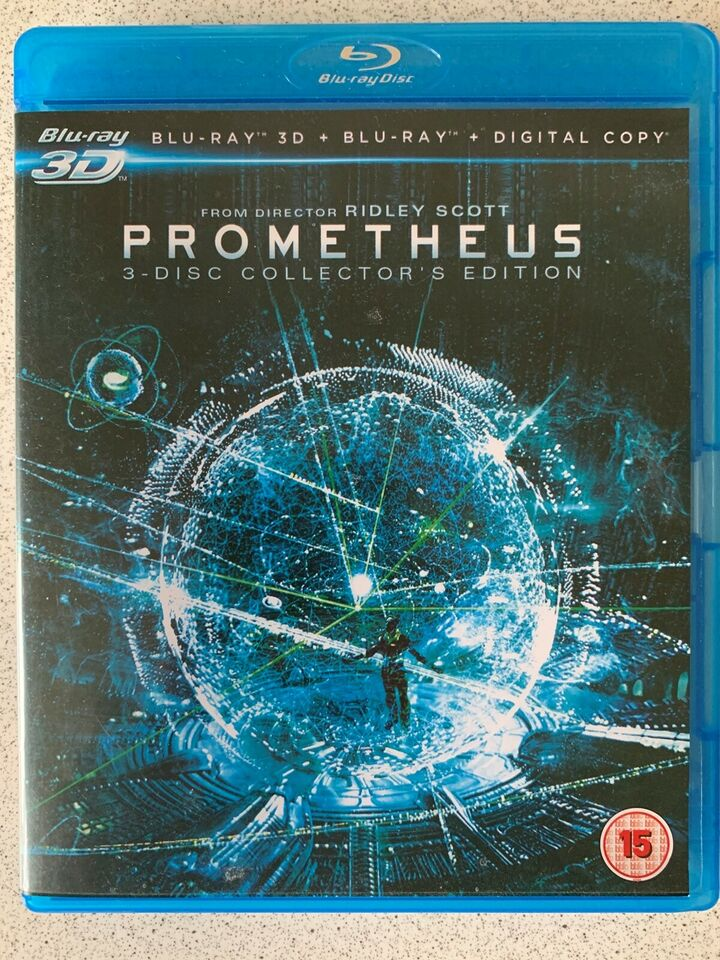 Prometheus 3D, Blu-ray, eventyr