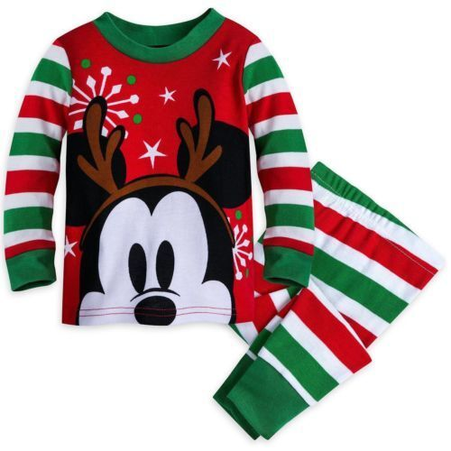 Disney Store Mickey Mouse Holiday Pajamas Baby Boy Size12-18 Months