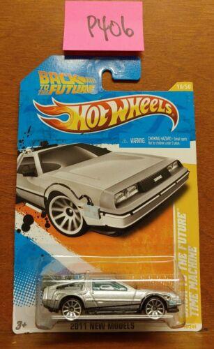 Hot Wheels Back to the Future Time Machine Rare HTF 2011 New Models #18//50.