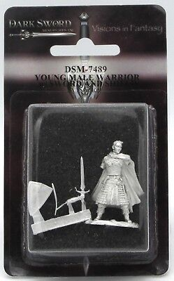 DARK SWORD MINIATURES DSM7489 Young Male Warrior w//Sword /& Shield
