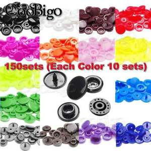 Set KAM Plastic Resin Snap Buttons Fastener//T5 Snap Pliers Kit DIY Crafts Useful