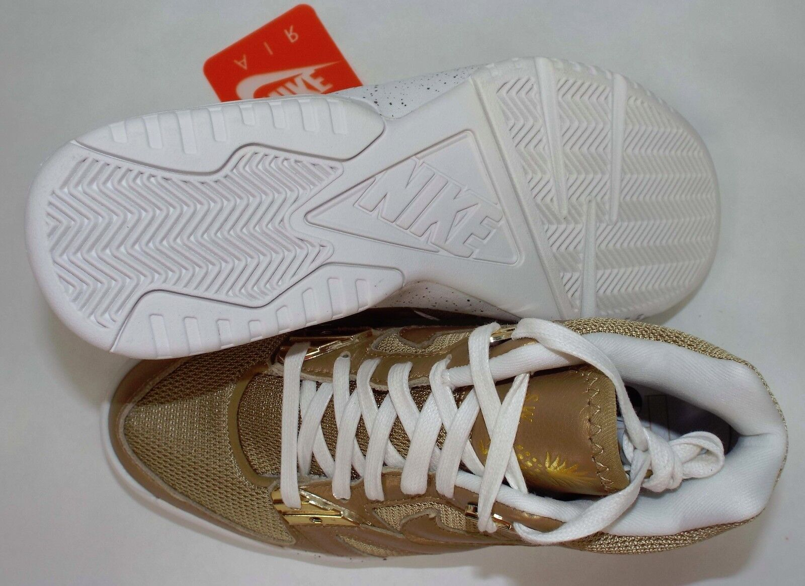 New homme 9 NIKE Air Gold Tech Challenge III 3 Gold Air blanc chaussures 150 749957-701 b29780