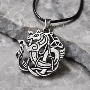 Antique silver plt celtic scottish myth sea kelpie horse pendant image is loading antique silver plt celtic scottish myth sea kelpie aloadofball Images