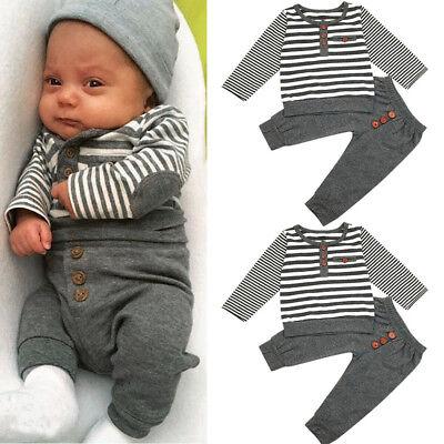 2pc Toddler Baby Boys Girl Clothes Set Dinosaur Print Tops+Long Pant Outfit 2018