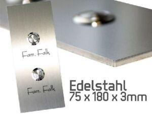 2-Fach-Designer-Klingel-Tuerklingel-Klingelplatte-Edelstahl-V2A-Gravur-r21
