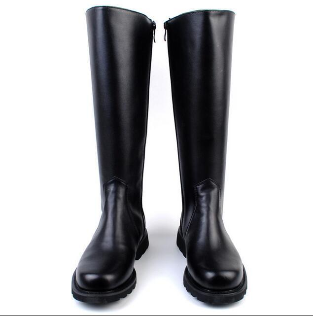 Mens Riding Knee High Long Boots Zip Motor Military British Style Casual shoes n