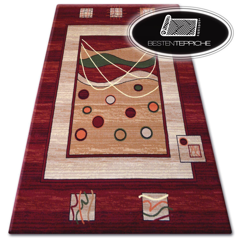 12 Größen schön schön schön traditionell klassische Teppich 'PRIMO' Abstrakt Rot Beige ecd6bd
