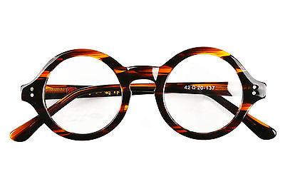 eb7ef46d12fc Details about 40mm ~ 61mm HANDMADE Vintage Round Glasses Optical Eyeglasses  Frame Rx 2040