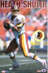 Vtg Heath Shuler Washington Redskins NFL 23x35 Poster New In Plastic ... 7b451704f