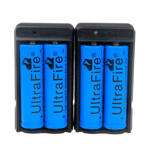 4-PACK-3000mAh-18650-3-7v-Li-ion-Rechargeable-Battery-BRC-Battery-2-x-Charger