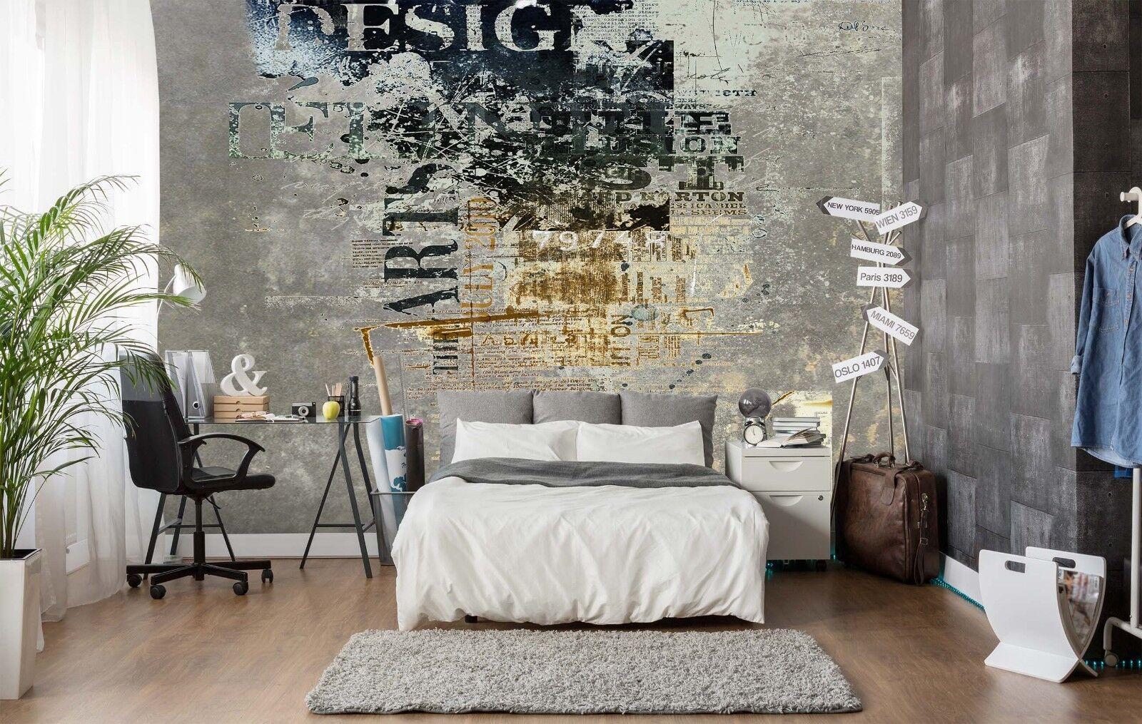3D Shabby Alphabet Art  55 Wall Paper Wall Print Decal Wall Deco Indoor Murals