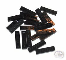 New - 3-Buck Bag Black 20 Pcs 1x4 Plates Brick, Tile LEGO