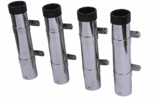 4X Boat Fishing Rod Holder Side Mount Stainless Steel Detachable Adjustable Pod