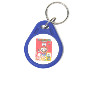Details about Super Mario Cereal Amiibo Compatible Key Fob Tag: works just  like the cereal box