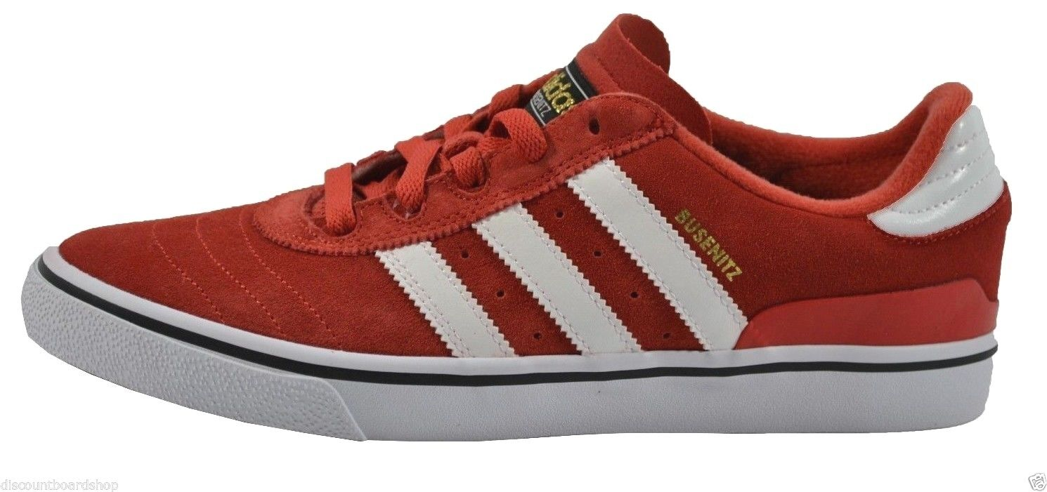 Adidas BUSENITZ VULC Mid Red White Suede Discounted Skate Price reduction Men's Shoes