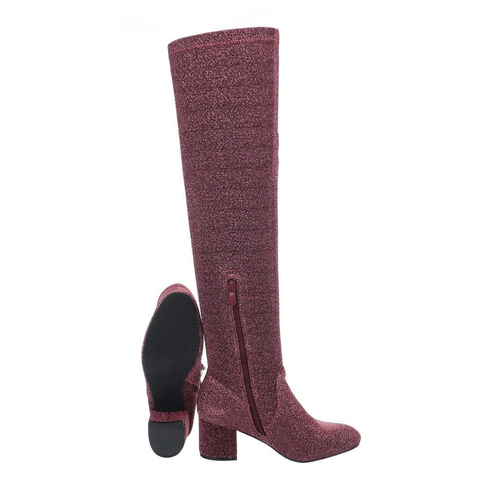 Aktuelle Damen Bordeaux Stiefel Schuhe Overknee 3885 Bordeaux Damen 39 464a2b