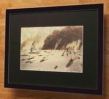 Little ships of Dunkirk by Norman Wilkinson - 20''x16'' frame, ship battles