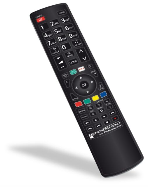 Replacement PANASONIC TV Remote Control N2QAYB000494 NO PROGRAMMING REQUIRED NEW