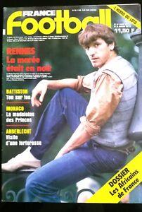 FRANCE FOOTBALL 20/1/1987; Rennes en crise/ Battiston/ Anderlecht/ Monaco