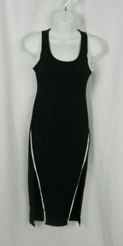 D1-27 NEW Primi Black Below the Knee Sleeveless Stretch Dress