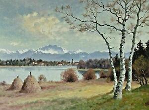 Josef Süssmeier YOS 1897 - 1971 - Chiemsee Blick auf die Fraueninsel