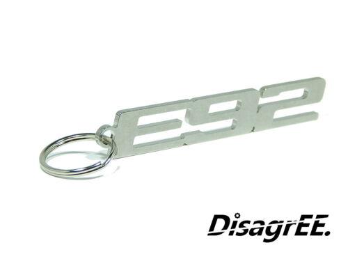 """Schlüsselanhänger /""""E92/"""" für BMW 3er coupe cabrio 325 330 335 Edelstahl glänzend"""