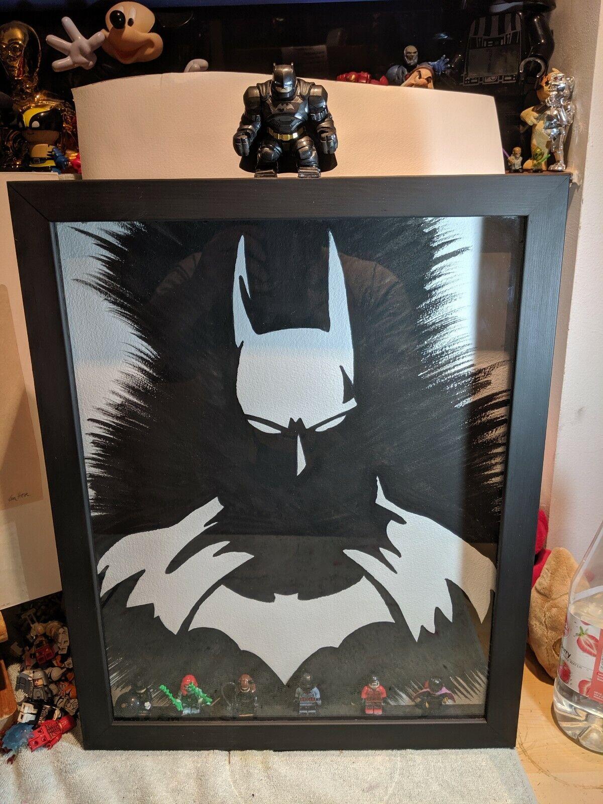 Pintura Enmarcada Batman Con Figuras