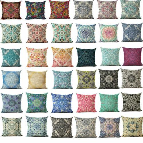 Bohemian Vintage Sofa Cushion Pattern Cotton Cover Linen Pillow Case Bohemia