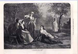1872 A Love Spell By F Chester Artwork Engraving Five Maidens - Jarrow, United Kingdom - If for any reason you are not satisfied with your item, do let us know. If you wish to return it, you may, within 7 days, and we will issue you with a full refund. Most purchases from business sellers are protected by the Consumer - Jarrow, United Kingdom