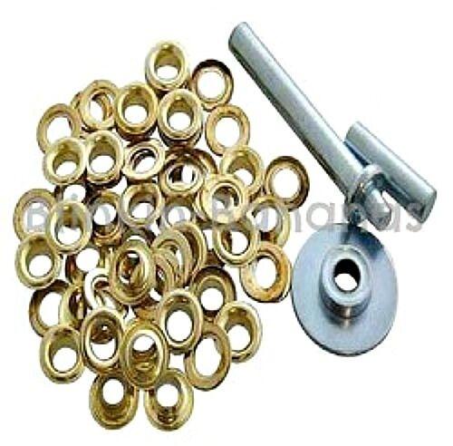 40Pc Heavy Duty ~LARGE STEEL GROMMETS//EYELETS~ Hole Maker Craft Kit Tarpaulin