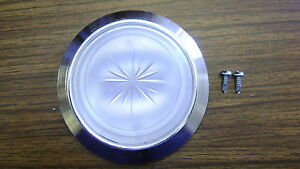 Dome Lamp Light Chrome Bezel Base Lens w/screws Camaro Firebird Trans Am