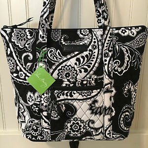 Vera Bradley VILLAGER TOTE MIDNIGHT PAISLEY Purse Bag