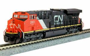 Kato-N-Scale-ES44AC-Locomotive-Canadian-National-CN-2801-DC-DCC-Ready-1768926