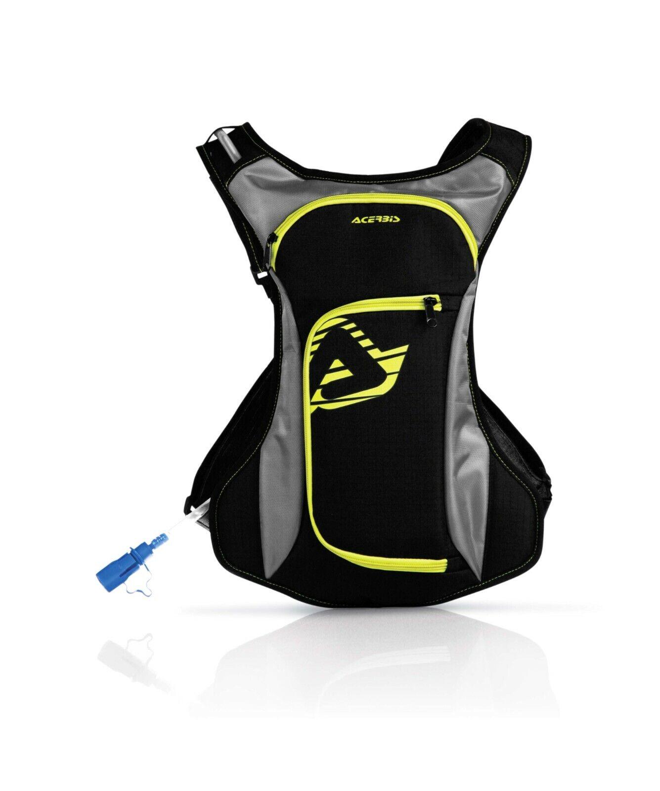 Zaino Moto Cross Camel Bag ACERBIS ACQUA giallo fluo Enduro Mtb Downhill Drink