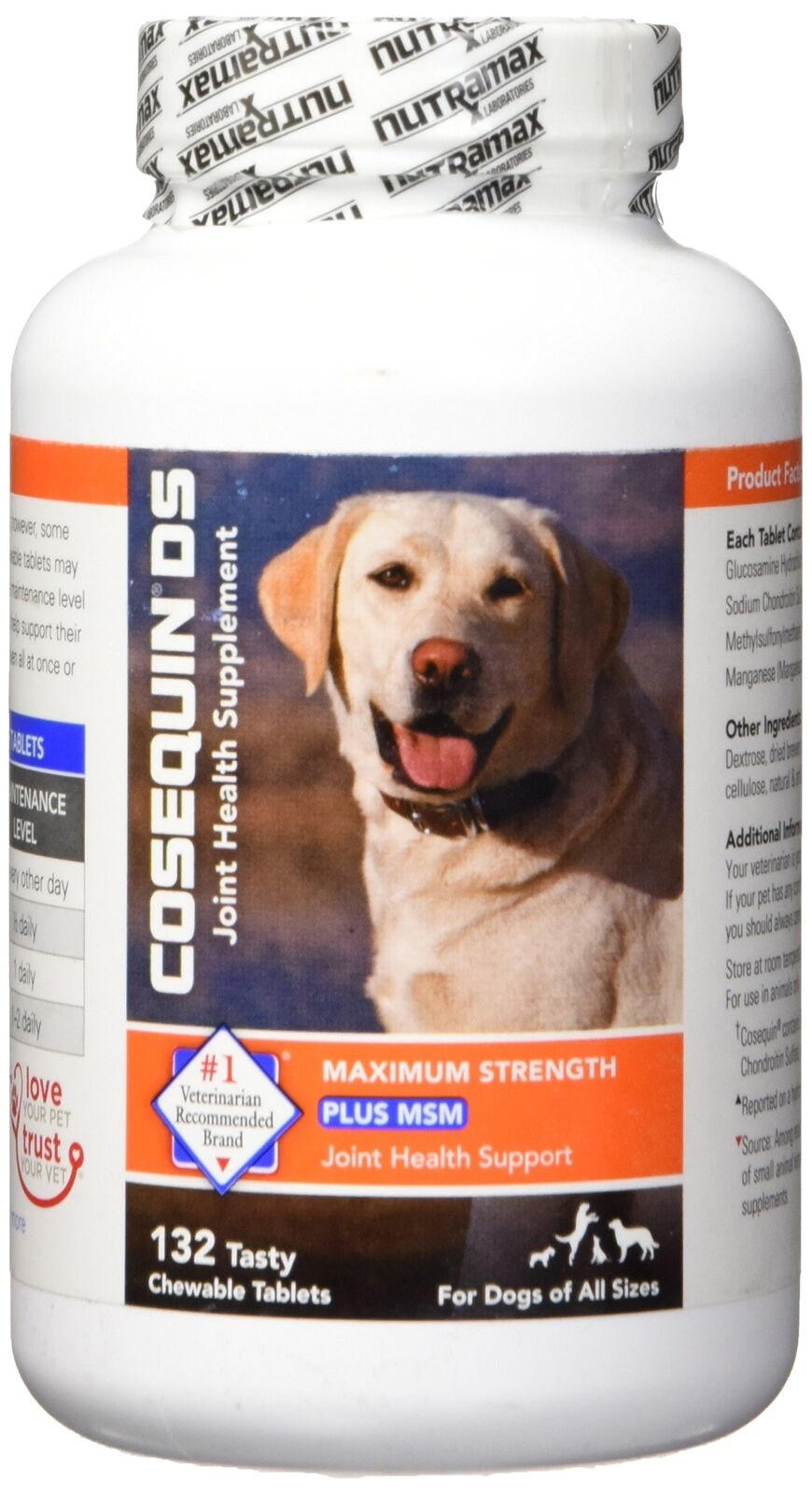 Nutramax Cosequin DS Plus with MSM Chewable Tablets 132 Count